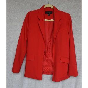 Amazing XXI Long Fire Red Blazer Jacket - Sz S